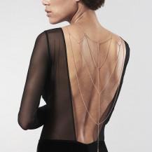 Magnifique des chaines métalliques pour le dos et le décolleté - Dorées