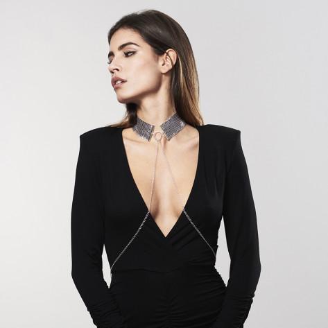 Désir Métallique · Metallic mesh silver collar