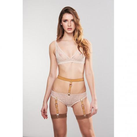MAZE - Suspender Belt for Underwear & Stockings Brown