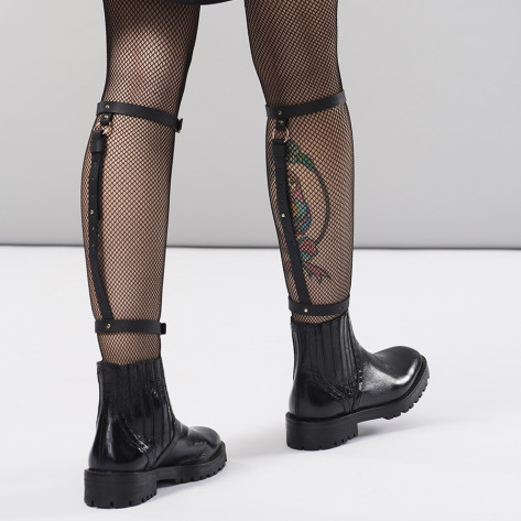 MAZE - Back Leg Garter Black