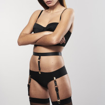 MAZE - Suspender Belt for Underwear & Stockings Black