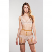 MAZE - Suspender Belt for Underwear & Stockings Brown
