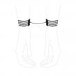 Silver Metallic Handcuffs by Bijoux Indiscrets