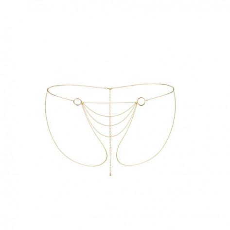 Magnifique culotte de cadenas metálicas - Dorado