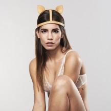 MAZE - Accesorio con orejas de gato en cámel