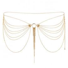 Magnifique · Joya de cadenas metálicas para la cintura dorada